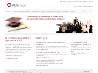 ADR Solutions Academy | ADR Center Spa | Web Design e gestione