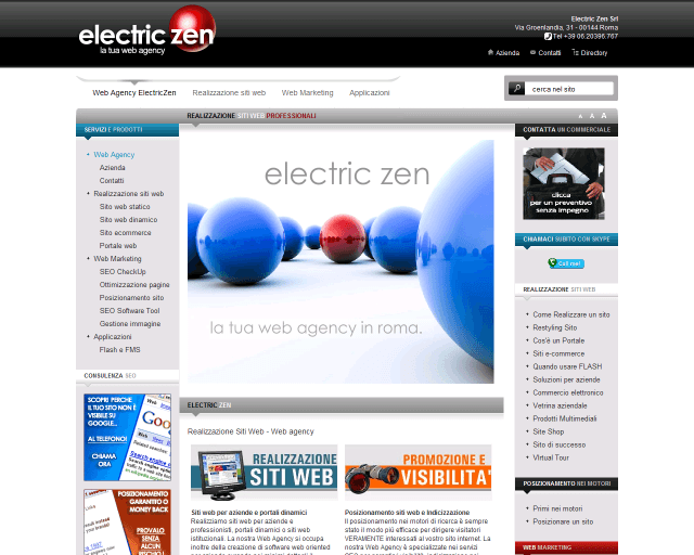 Electric ZEN Srl | Web Design