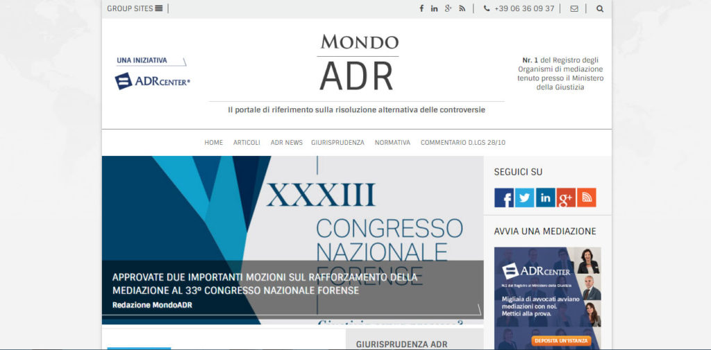 Mondo ADR | ADR Center Spa