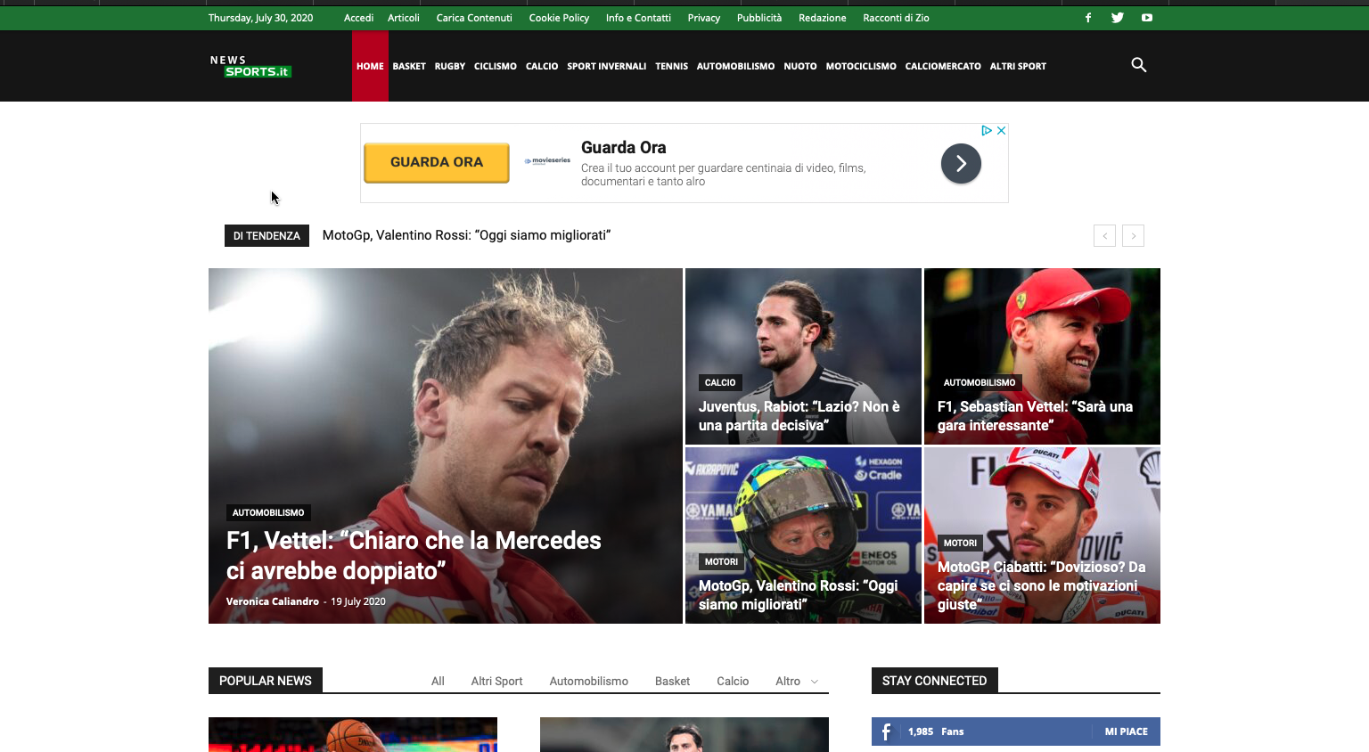 News Sport Giornale Online