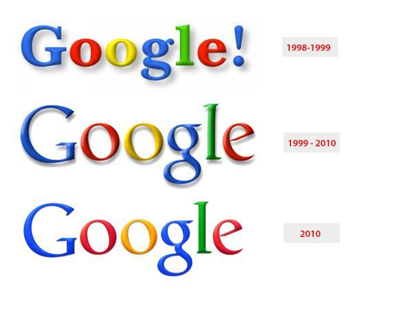 L'evoluzione del logo di Google