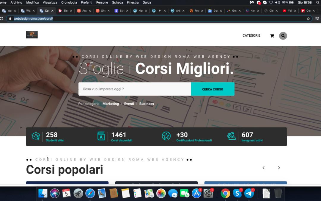 Corsi OnLine, Web Design Roma Web Agency presenta la propria piattaforma di corsi online